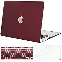 MOSISO Funda Dura para MacBook Air 13 (A1369/A1466, Versión 2010-2017), Delgado Carcasa Rígida Protector & Piel de Teclado de Juego Color con Alfabeto Ingles & Protector de Pantalla, Rojo Marsala