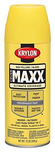 krylon-k09142000-covermaxx-spray-paint-gloss-sun-yellow-by-krylon