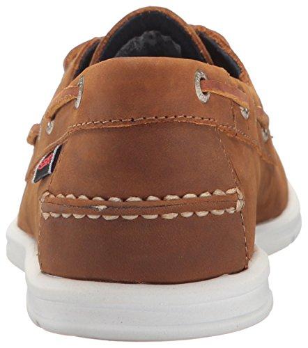 LITESIDES TWO EYE cuir rose foncé - Chaussures bateau femme SEBAGO Medium Brown Leather