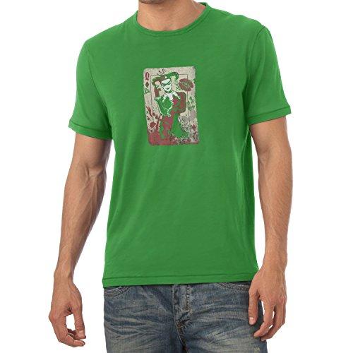 - Herren T-Shirt, Größe XXL, Grün (Arkham Asylum Harley Quinn Cosplay Kostüm)