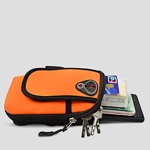 Bean Bag Mount (AWJ06 Handy Armtasche Outdoor Armtasche Herren Damen Sport Armtasche Armtasche Ohrhörer Loch Laufarm Tasche - Orange)