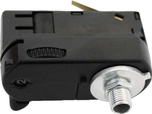 GlobalTrac 3-Phasenstromschiene Ausspeiser Stromabnehmer mit Leuchtenhalter M10 schwarz