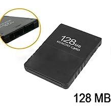 GOZAR 128 Mb De Tarjeta De Memoria Para La Estación Play 2 Ps2 Negro