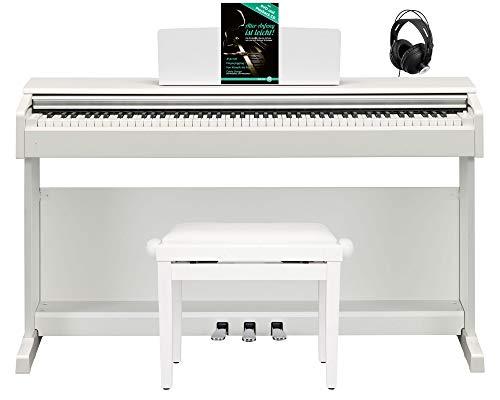 Yamaha Arius YDP-144 WH E-Piano Set (elegantes Digitalpiano, 88 Tasten, GHS-Tastatur, CFX-Klangerzeugung & 2x 8W Lautsprecher inkl. Pianobank, Kopfhörer & Klavierschule mit CD & DVD) Weiß