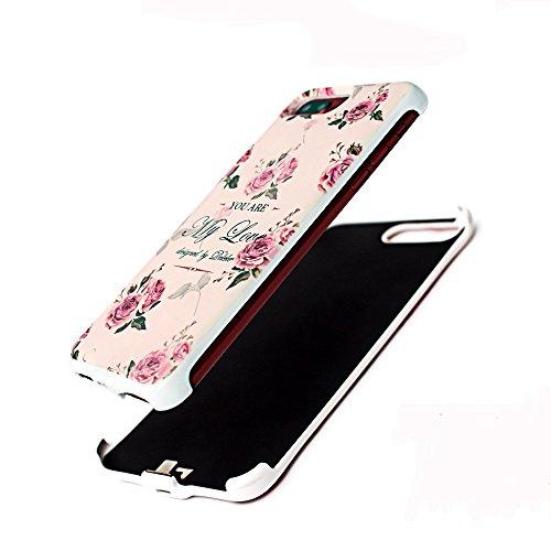 iPhone 6/6s Akku Hülle Externer Akku 2400mAh Powerbank 3D Malerei Externes Batterie Case Ultra Slim Schutzhülle Backcover (für iPhone 6/6S 4,7'', Geometrischer Stil) Kaninchen