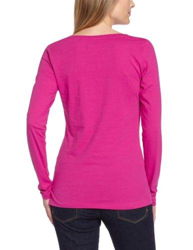 Lee Cooper Damen T-Shirt GALEZ, Grandad, Uni Pink (Raspberry Rose)