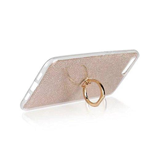 Soft Flexible TPU Back Cover Case Shockproof Schutzhülle mit Bling Glitter Sparkles und Kickstand für Xiaomi 6 ( Color : Black ) Gold