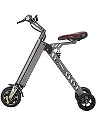 Mini Vélo électrique Tricycle Intelligent à la mode Trottinette Tricycle électrique Vélo électrique pliable et portable(gris, vert, or)