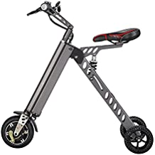 Eléctrico vehículo Mini Moda de bicicletas y electrónica inteligente de movilidad eléctrica de triciclo plegable y portátil bicicleta eléctrica (gris)
