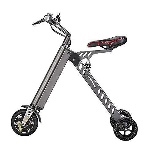 Mini Vélo électrique Mode & Smart électronique Mobilité électrique Tricycle pliable et vélo électrique Portable (gris)