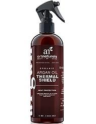 Art Naturals Hitzeschutzspray 236 ml, Bester Schutz gegen Hitzeschäden durch Glätteisen, Lockenstab & Föhn | mit 100% Organischem Arganöl | Conditioner & Schützende Pflege in Einem | Beugt Haarbruch, gespaltene Spitzen & Hitzeschäden vor | Für jeden Haartyp | Sulfat-frei