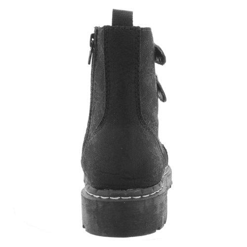 T.U.K. Stiefelette ANARCHIC LACED BUCKLE T2194 black Black