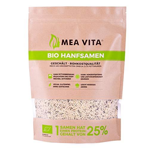 MeaVita Bio Hanfsamen, geschält, 1er Pack (1 x 1 kg)