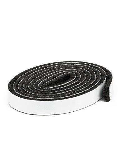 Filzband selbstklebend, ca. 1,47 m lang, 1,27 cm breit, 0,5 cm dick, extra strapazierfähiger Filz, 4 Stück, braun; als Bodenschutz für Möbelfüße, Tischbeine, Stuhlbeine, Stühle - Made in Canada (Pad Tür Kratzen)