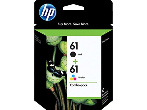 HP 61 Ink Cartridge Combo Pack CR259FN - Cartucho de tinta para impresoras (Negro, Cian, Magenta, Amarillo, 190 páginas, 165 color, 190 black) Si