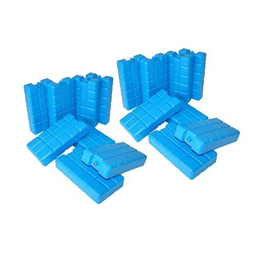 ToCi 16er Set Kühlakku mit je 400 ml  16 blaue Kühlelemente für die Kühltasche oder Kühlbox