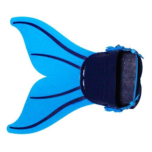 Starjerny 3PS Mädchen Meerjungfrauen Bikini Set Schwimmanzug Badeanzüge Bademode Prinzessin Kostüm Meerjungfrauenschwanz für Schwimmen Kinder 5-14 Jahre Farbewahl (40cm*44cm*18cm, Blau+Navy)