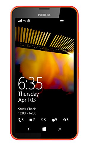 "Nokia Lumia 635 Smartphone Micro SIM (11,9 cm (4,6 ""), écran tactile, appareil photo 5 Mpx, Win 8.1),Orange"