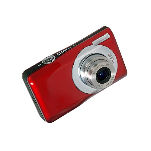 Digitalkamera, Stoga DV-V100 Mini 5X optischer Zoom 2,7 Zoll TFT LCD HD Digital Kompaktkamera-Rot