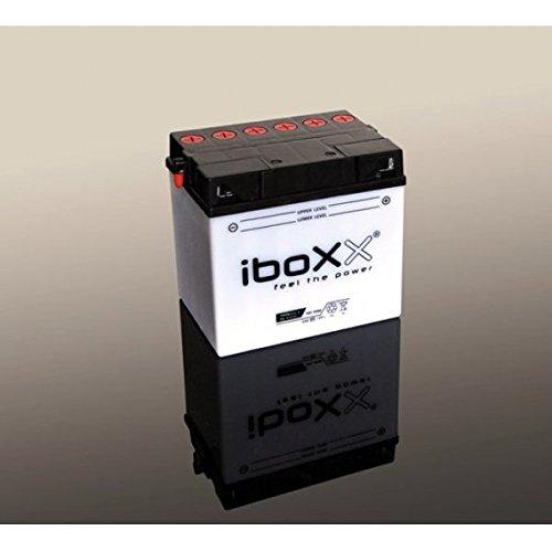 Iboxx Motorrad Batterie YB14-A2, 12 Volt, 14 Ah, inkl Säurepack für Linhai Muddy 300 4x2, Bj. 2008