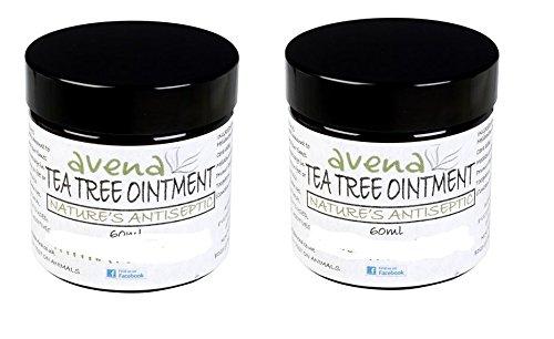 Handy size 2 x 60ml Tea Tree Ointment ideal for spots, boils