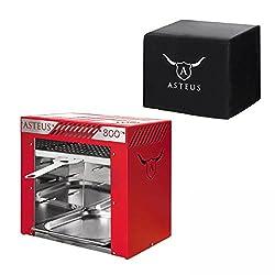 Asteus KS0859 ASTEUS Willy Elektro-Infrarotgrill rot + Abdeckhaube