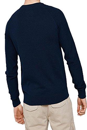 Threadbare Herren Jumper Pullover, Einfarbig beige beige Small Turner - Blue Depth
