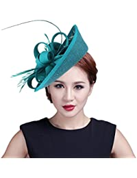 EOZY Damen Mini Hut Fascinator Hut Haarschmuck Tirolerhut