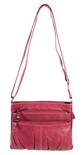 Oxbridge Satchel Shop , Sac à main porté au dos pour femme rouge petit