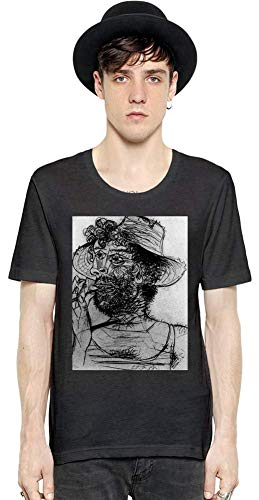 Medium Cone Top (Top Paintings of All Time Pablo Picasso - Man with Ice-Cream Cone Painting Men Short Sleeve T-Shirt Tee Shirt Stylish Fashion Fit Custom Apparel by Medium)