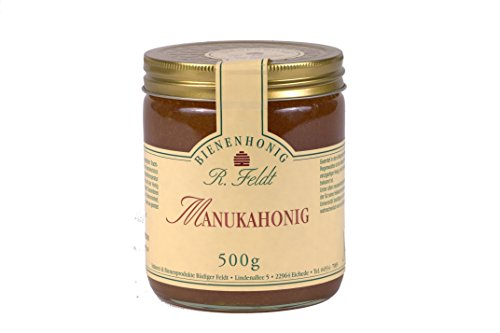 Manuka-Honig (Teebaum), Neuseeland, dunkel, flüssig, kräuterartig kräftig, 500g - Mosaik Dunkel