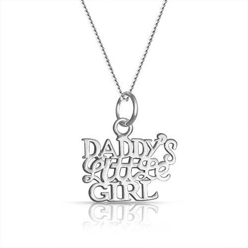 Bling Jewelry 925 Daddys Little Girl pendente della collana Messaggio 18in