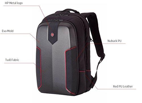 HP Omen Armored 24 Liter Gaming Backpack for 15-inch Laptops (Black) Image 3