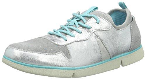 Clarks Kids Tri Bessie Jnr, Baskets Basses fille Argent (Silver Leather)