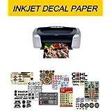 Mondo Decal - Feuille de papier A4 pour décalcomanie - Imprimantes à jet d'encre - Face transparente - Pas besoin de protection