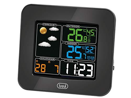 Fase Lunare Previsioni Meteo Trevi ME 3120 RC Stazione Meteo con Sensore Esterno Senza Fili Color Legno Calendario Umidit/à Temperatura Sveglia