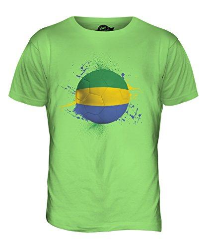 CandyMix Gabun Fußball Herren T Shirt Limettengrün