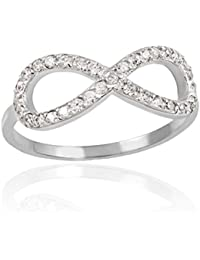 Little Treasures - 10K White Gold Diamond Infinity Ring