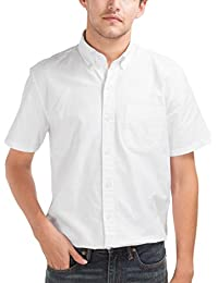 GAP Men's Oxford Short Sleeve Shirt