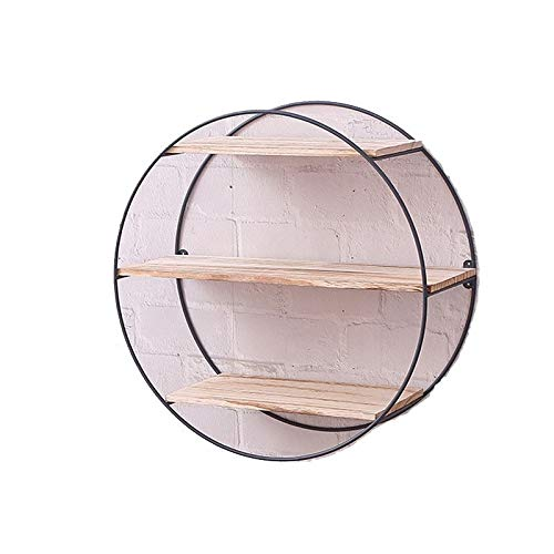 Wandregal Holz schwimmende Regale, Holz und verzinktem Metall Wandregal Dekor , Schlafzimmer, Wohnzimmer, Badezimmer - (20in) (Color : Wood Color, Size : 50 * 19cm) ()