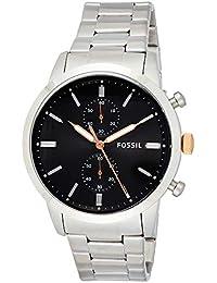 Fossil 44mm Townsman Analog Grey Dial Men's Watch - FS5407