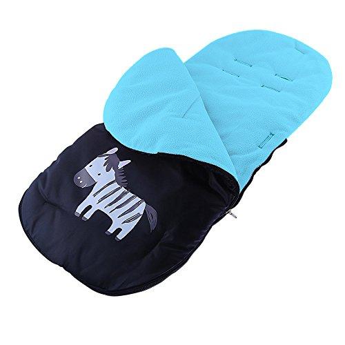 Preisvergleich Produktbild Bwiv Universal Fußsack Winterfußsack für Kinderwagen & Buggy Thermo-Fleece Wasser Windabweisend Anti-Rutsch-Pads Blau