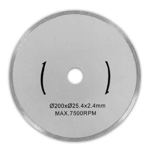 Preisvergleich Produktbild EBERTH 2x Diamanttrennscheibe mit Ø 200 mm (2 Stück, universell einsetzbar, Fliesen, Marmor, Porzellan, Keramik)