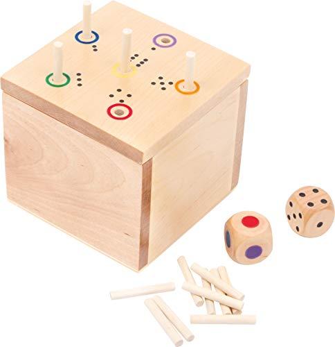 """small foot 6558 Gesellschaftsspiel \""""Würfel Ass\"""" aus Holz, schnell erlerntes Würfelspiel mit zwei Würfeln, ab 5 Jahren"""