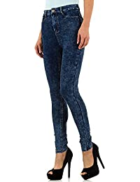 Used Look High Waist Skinny Jeans Für Damen bei Ital-Design