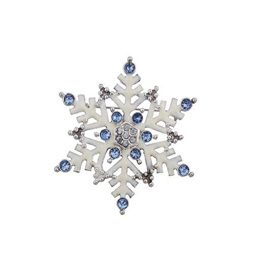 hten Urlaub Weiß Emaille Große Schneeflocke Brosche Pin (Schneeflocke-pin)