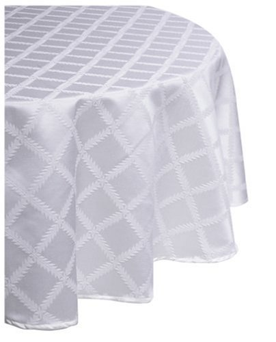 Lenox Laurel Leaf 70-by-86-Inch Oval Tablecloth, White by Lenox Lenox Laurel