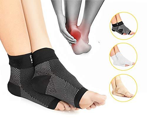 Modetro Sports Premium Kompressionssocken lindern Fersensporn, Plantarfasciitis und Fuß Schmerzen | Fersensporn Socken schwarz