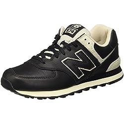 New Balance 574, Zapatillas para Hombre, Negro (Black), 44 EU