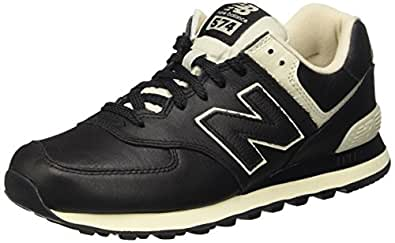 New Balance Men's 574 Trainers, (Black), 6.5 UK 40 EU